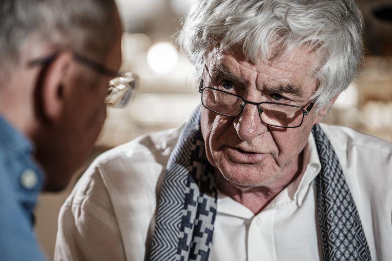 Elchardus: 'De ideologie van mei '68 was flinterdun.' Goossens (r.): 'Een kwalijke uitspraak!' Beeld Bob Van Mol