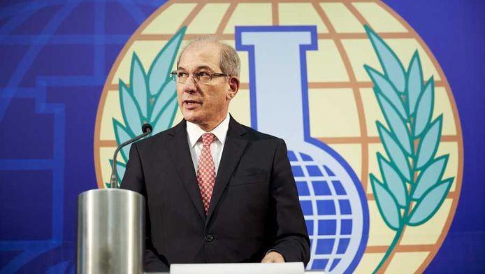 Hoofd van OPCW Ahmet Üzümcü geeft toelichting op het onderzoek naar chemische wapens in Syrië.