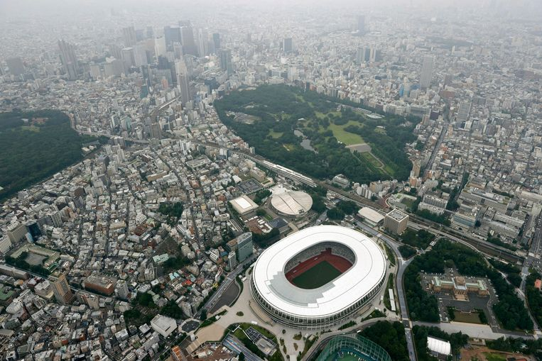 Het New National Stadium, het hoofdstadion van de Spelen in Tokio. Beeld AP