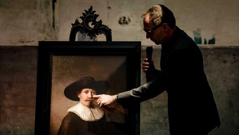 'The Next Rembrandt' werd afgelopen week onthuld in Galerie Looiersgracht60 Beeld anp
