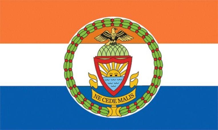 De vlag van het New Yorkse stadsdeel The Bronx is ook gebaseerd op de Prinsenvlag Beeld