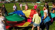 Leerlingen Parkschool openen Park Oude-God