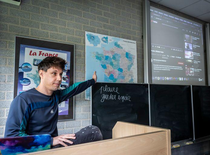 Berrie de Zeeuw, docent Frans, is genomineerd voor de titel filmleraar van het jaar.