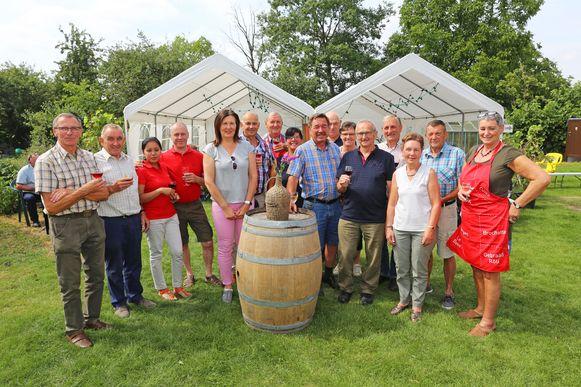 Het Wijnfeest heeft plaats bij wijnbouwer Frans Heyvaert.