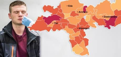 CORONAKAART | Druk op ziekenhuizen nijpend, opmars coronavirus gaat verder