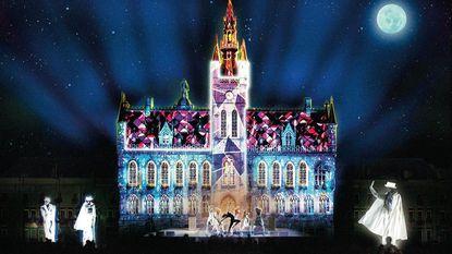 3D-spektakel op gevel stadhuis sluit 800ste verjaardag af