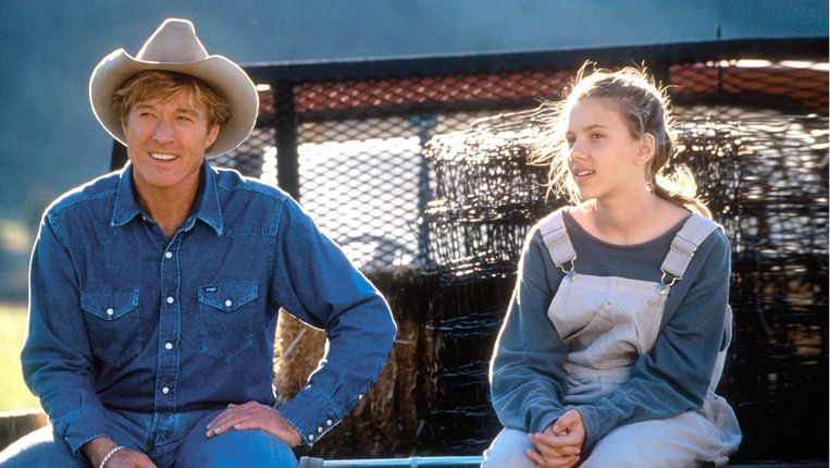 Cowboyhoed in 'The Horse Whisperer'. Beeld