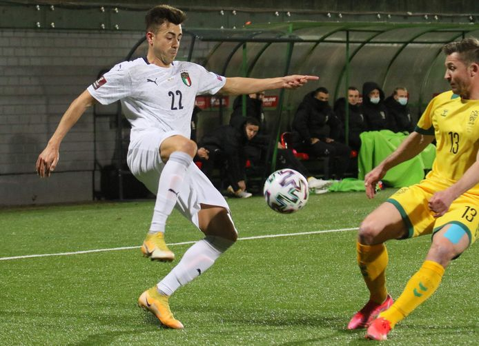 Stephan El Shaarawy in het shirt van Italië.