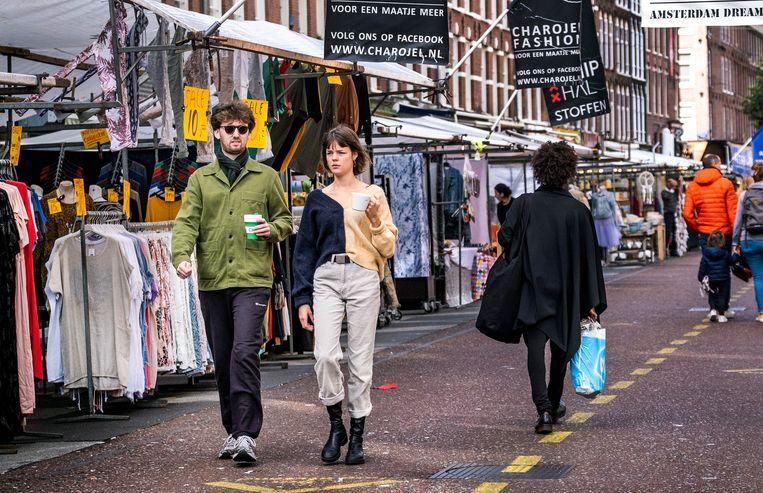 Volgens Walther Ploos van Amstel draagt de coronacrisis positief bij aan de sociale cohesie in de stad. Beeld Hollandse Hoogte /  ANP