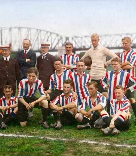 Plots duikt een  foto op van het eerste kampioenschap van Willem II, op 1 juni 105 jaar geleden