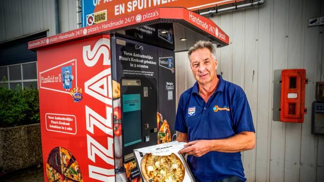Stormloop bij eerste pizza-automaat in Nederland: 's nachts in de rij voor verse pizza
