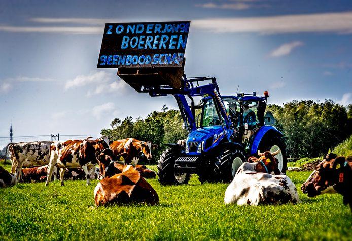 Het aantal boerenbedrijven is gekrompen, maar die bedrijven werden wel steeds groter.