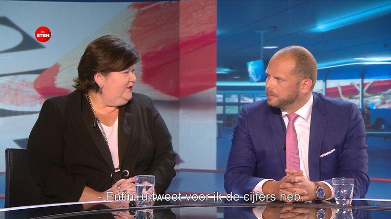 Debat tussen Theo Francken en Maggie De Block