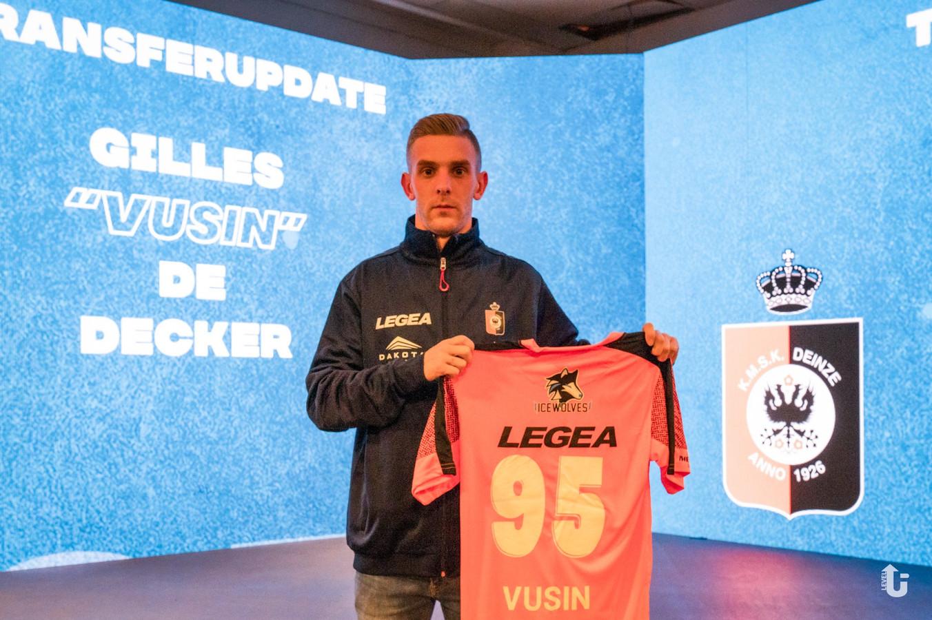 Gilles De Decker is de esporter van KMSK Deinze.