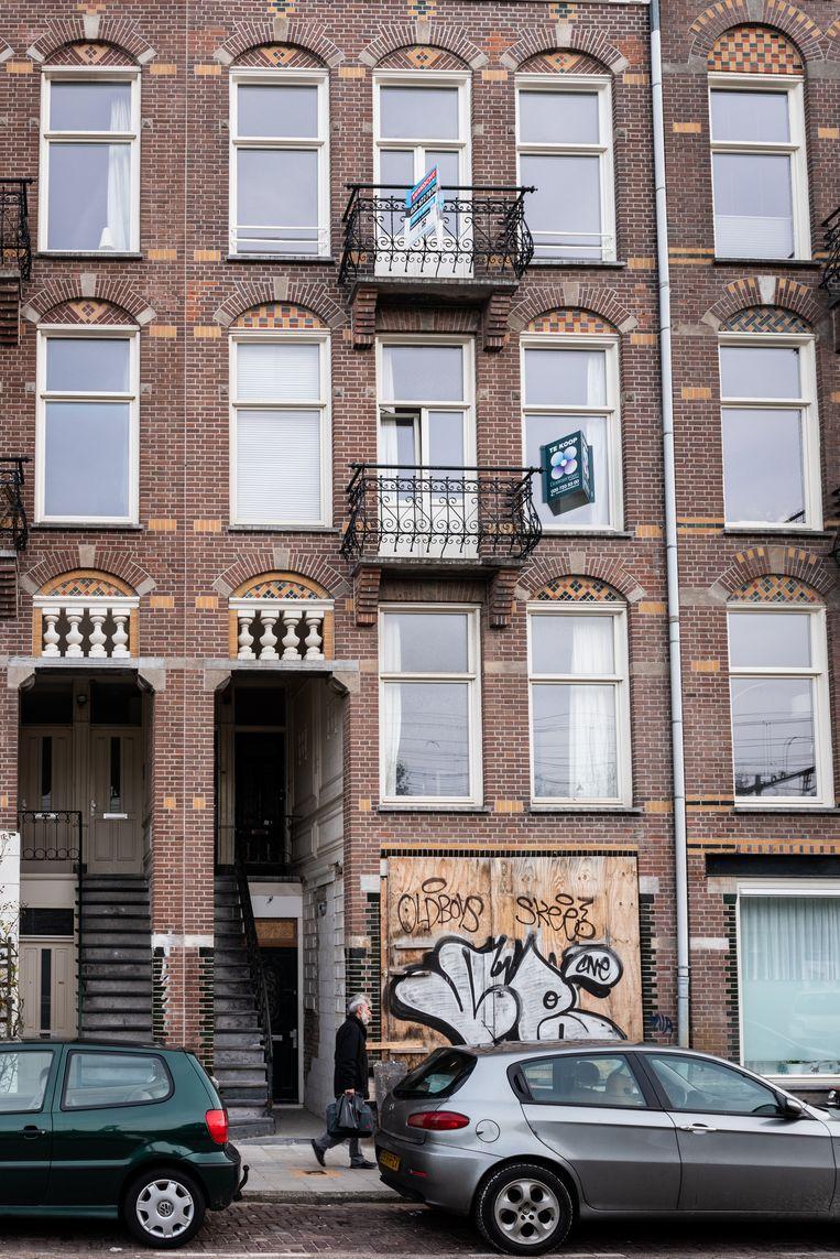 Appartementen uit het microsegment in de Celebesstraat. Beeld Simon Lenskens