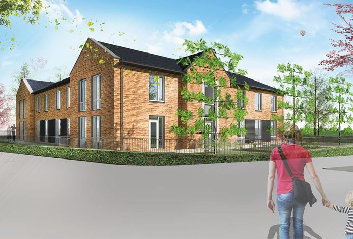 Zo komt het woonzorgcomplex voor mensen met dementie aan de Carmelstraat er uit te zien.