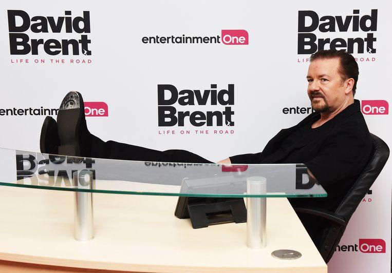 Ricky Gervais op de première van 'David Brent: Life on the Road' in Londen.  Beeld Dave J Hogan/Getty Images