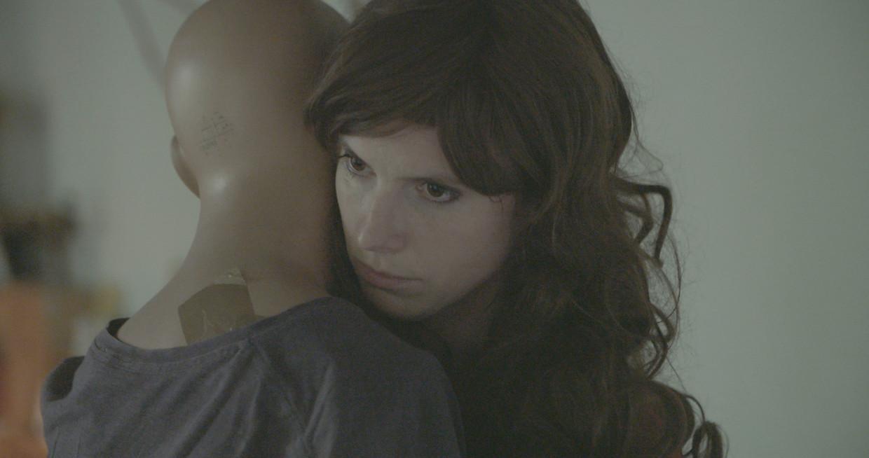 Patricia Vanneste in de clip van 'Radar' Beeld Anton Coene
