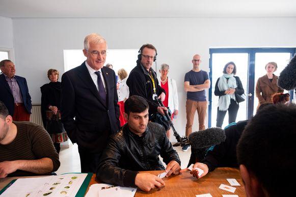 Minister-president Geert Bourgeois bezoekt Gomad, de winnaar van de Award Inclusieve Onderneming 2018.