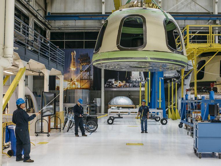 Een vrijgegeven beeld van Blue Origin. Beeld REUTERS