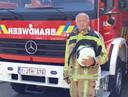 Adjudant Dirk Vanluchene (64) neemt afscheid bij de brandweer in Meulebeke.