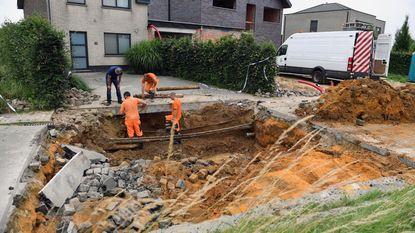 Zinkgat sluit oprit huis Coigesteenweg af