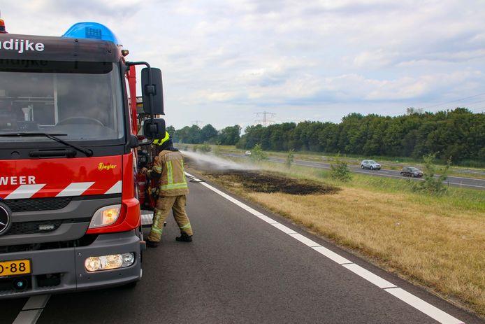 De brandweer kreeg het vuur vrij snel onder controle.