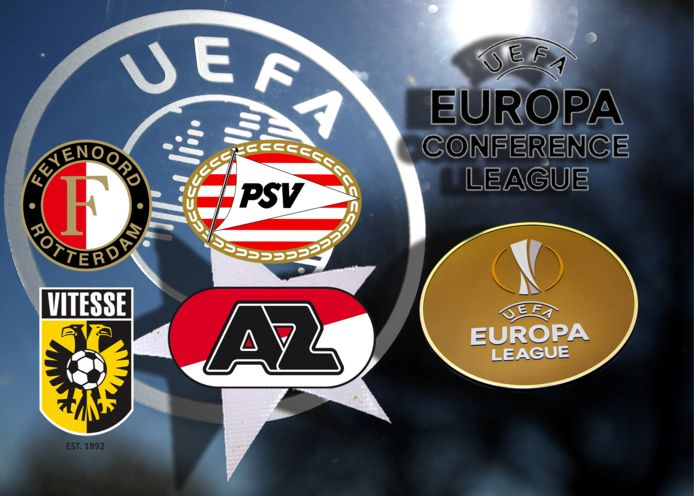 De Nederlandse clubs in Europa.