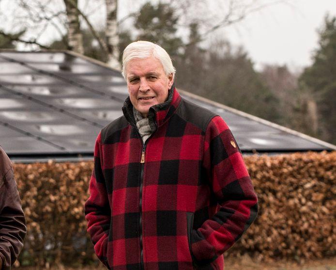 Martien Pater, voorzitter van Energie Coöperatie Vorden, is blij met het nieuwe zonnepark. ,,Het project is de moeite waard, want er kunnen straks zeventig tot tachtig huishoudens via de zonnepanelen groene stroom gaan gebruiken.''