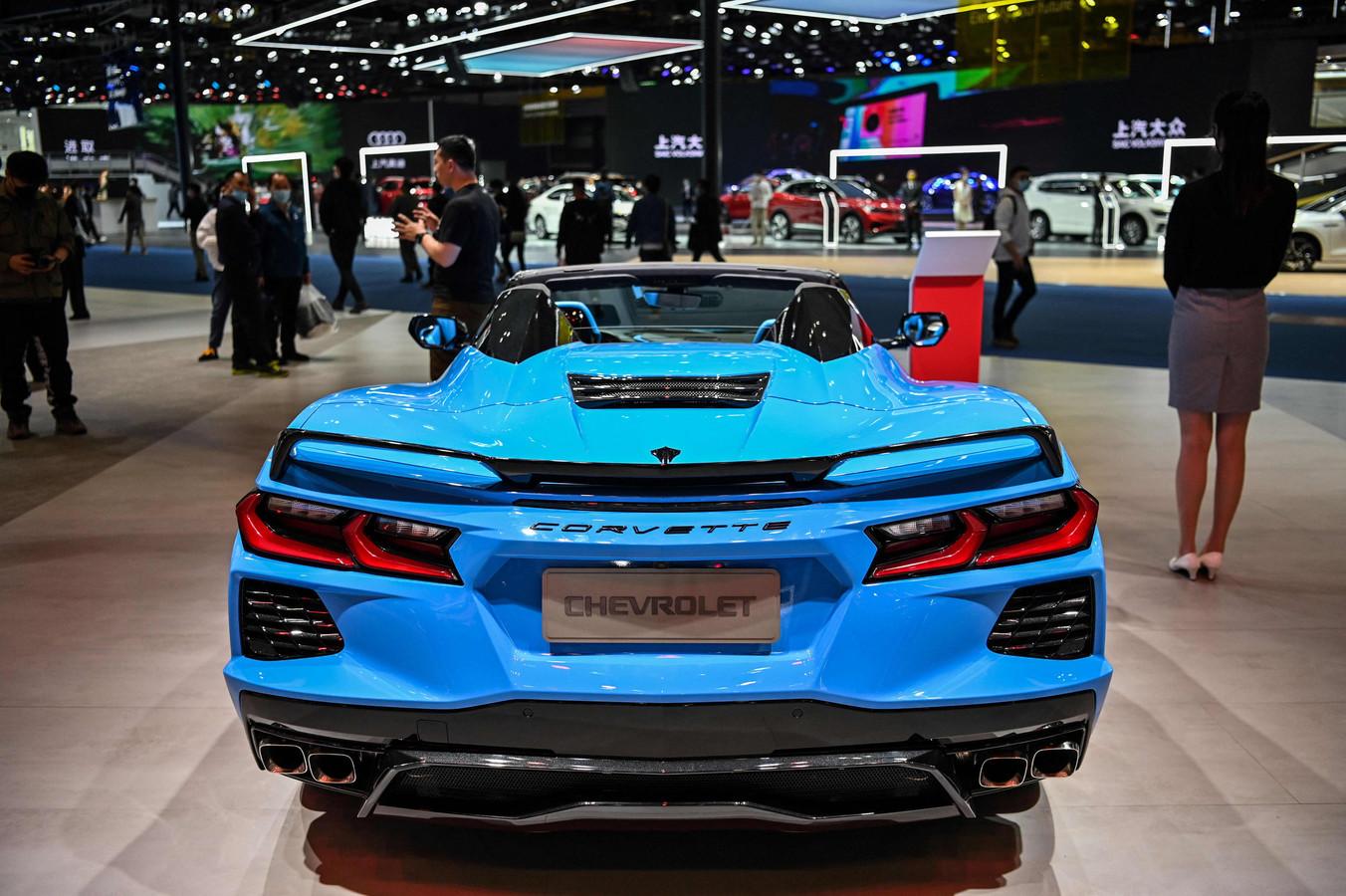 Ook Amerikaanse merken, zoals hier Chevrolet met zijn beroemde sportauto Corvette, doen goede zaken in China.