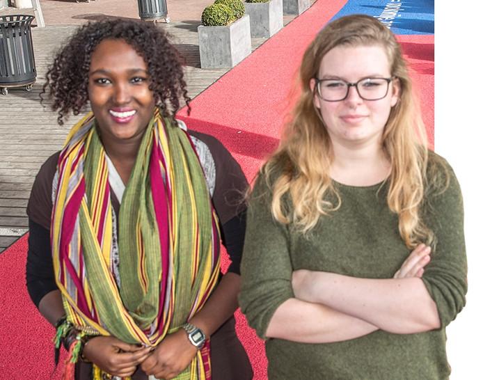 Studentes van Deltion Shukria en Marijke: ,,Het liefst zouden we op alle MBO's in de regio onze colleges geven.''