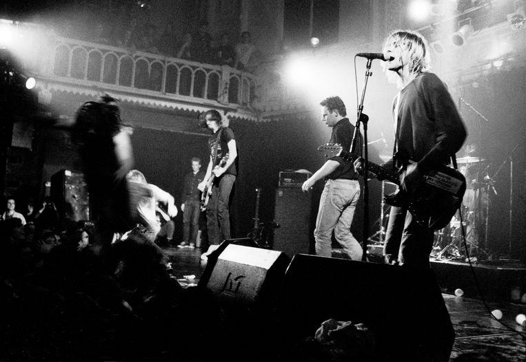 Nirvana in Paradiso op 25 november 1991. Beeld Hollandse Hoogte / Peter Pakvis
