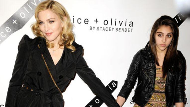 Madonna met haar dochter Lourdes. Foto Bruno Press Beeld