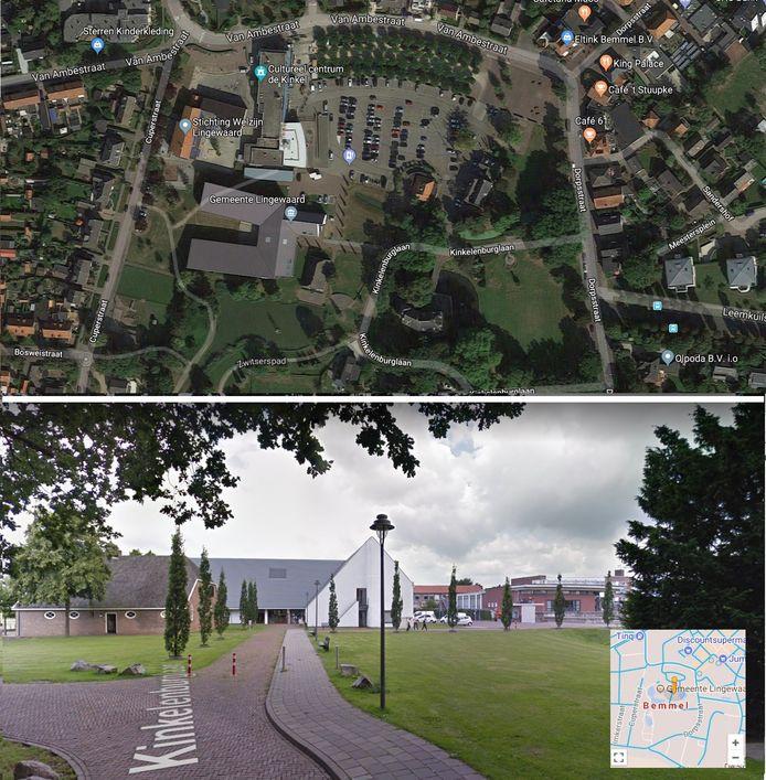 Het gemeentehuis in Bemmel ligt in een voor auto's moeilijk toegankelijk gebied.