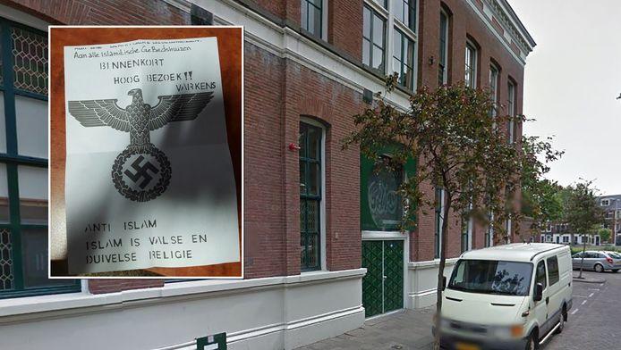 De Othman moskee in Rotterdam is een van de moskeeën die een dreigbrief heeft ontvangen.