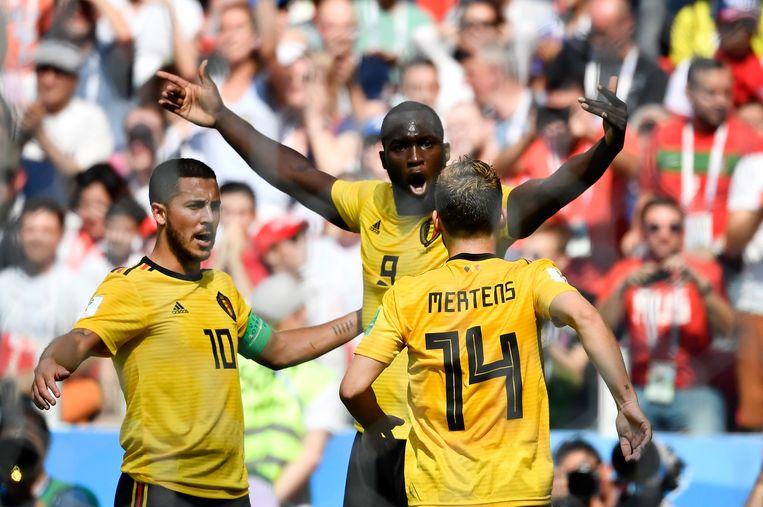 Hazard, Lukaku en Mertens: de gevreesde Duivelse voorlijn.