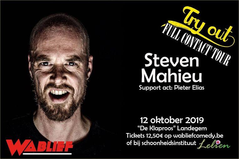 Steven Mahieu geeft een try-out in De Klaproos.
