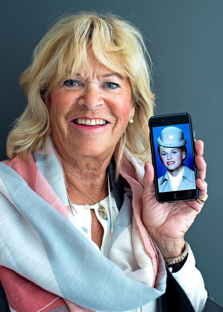 Voormalig Pan Am-stewardes Elise Tingulstad. Beeld Klaas Jan van der Weij