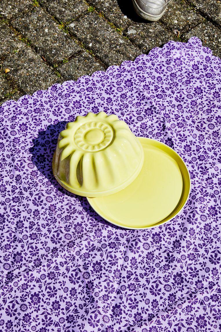 Niet te slijten: puddingvorm van Villeroy en Boch. Beeld Marie Wanders