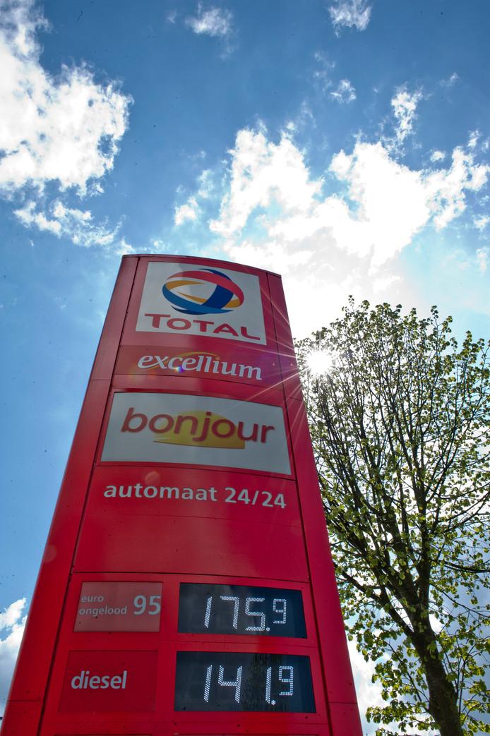 Een benzinebord uit 2012 toen de prijzen naar records schoten