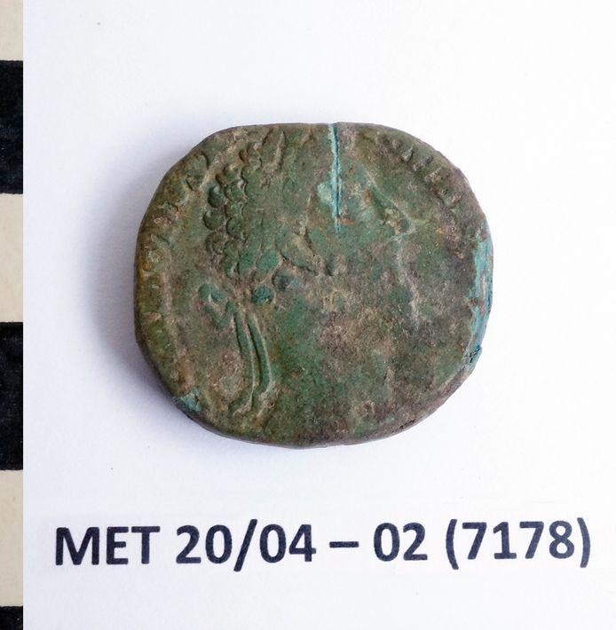 Vondsten Doorn Noord Ninove: een bronzen munt