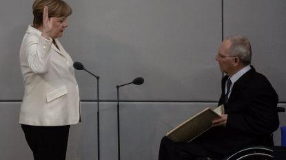 Ordeverstoorder opgepakt bij inzwering Merkel