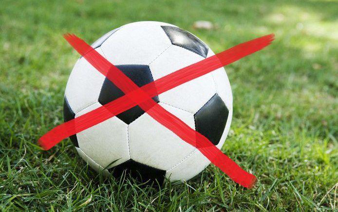 voetbal afgelast