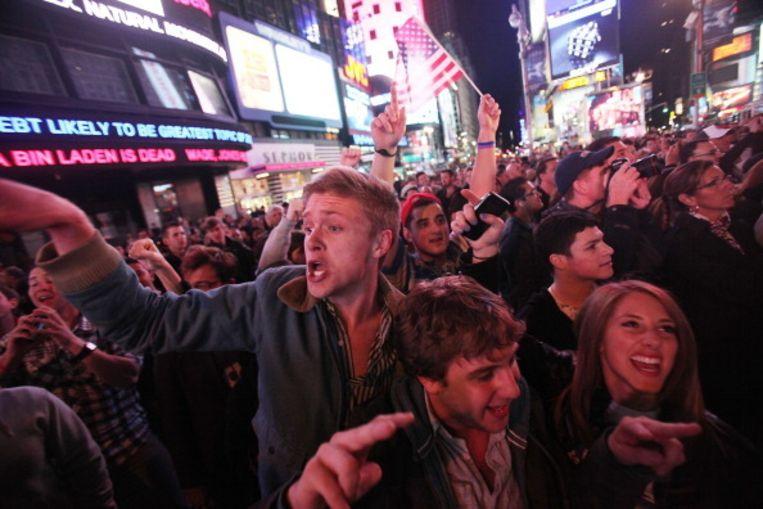 In gans Amerika kwamen mensen samen na het nieuws bekend raakte Beeld UNKNOWN