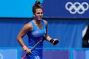 Hockeyster Fréderique Matla behaalde tijdens de Olympische Spelen in Tokio een gouden medaille
