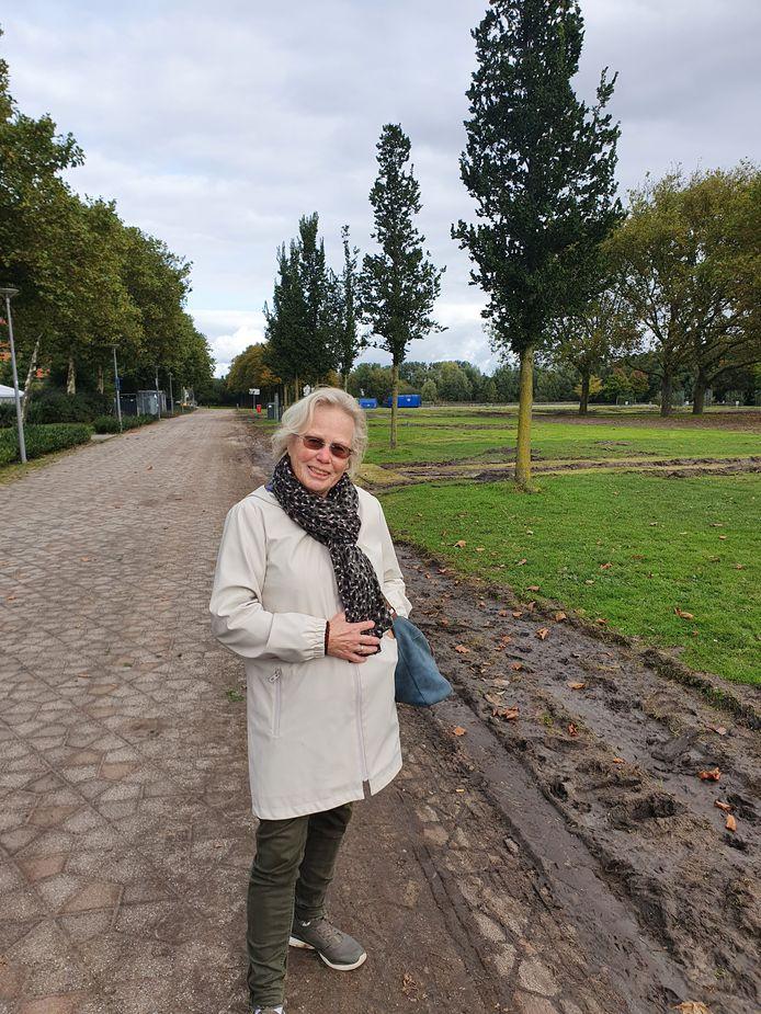 """Marry de Moei: ,,Ik vind het schandalig, het gras is echt weer geruïneerd."""""""