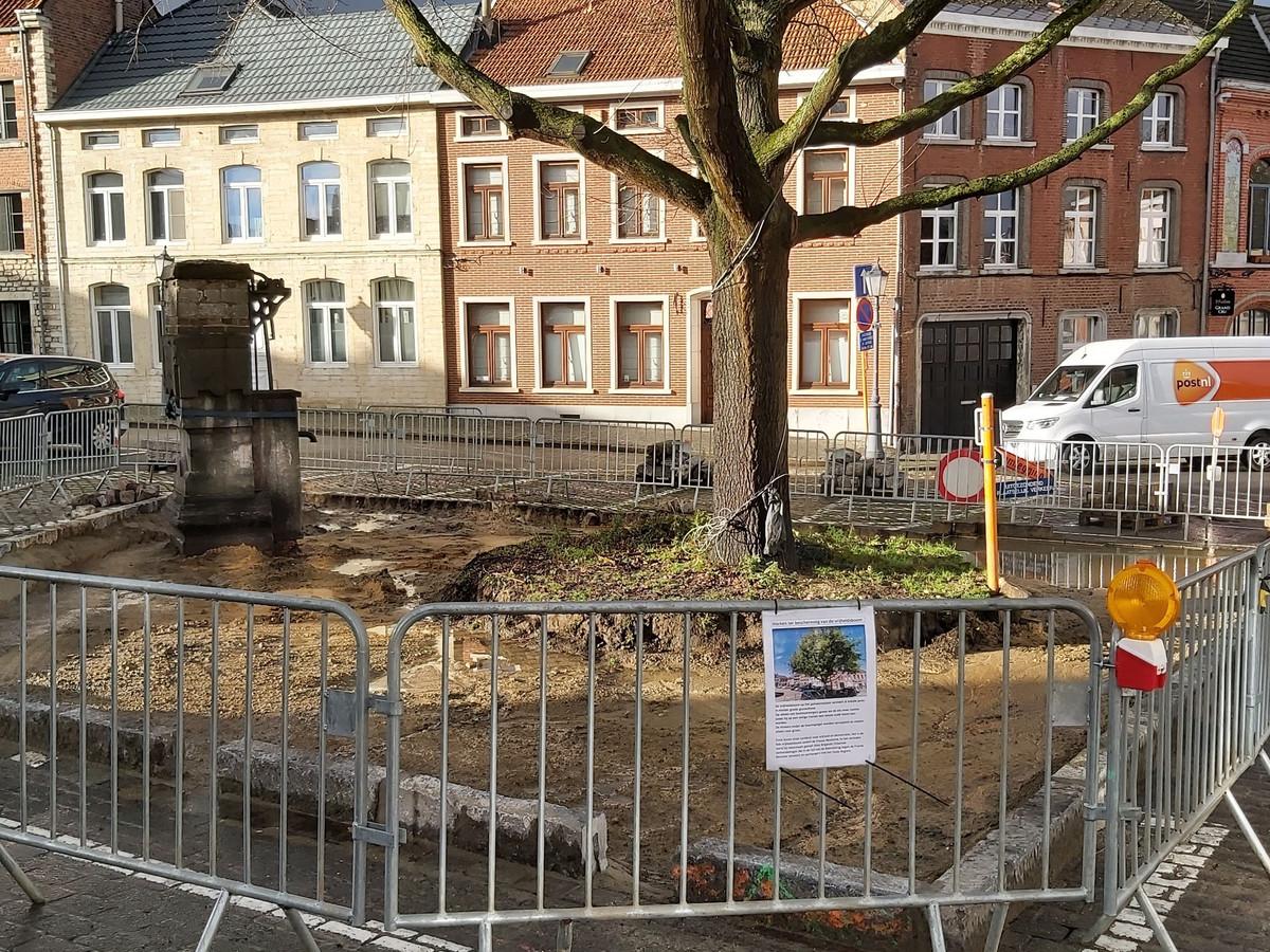 Een paar parkeerplaatsen sneuvelden bij de redding van de Vrijheidsboom.