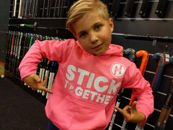 Een hoodie van Hockeyclub Heeze.