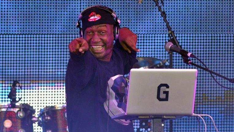 DJ Grandmaster Flash tijdens een optreden in Australië. Beeld anp
