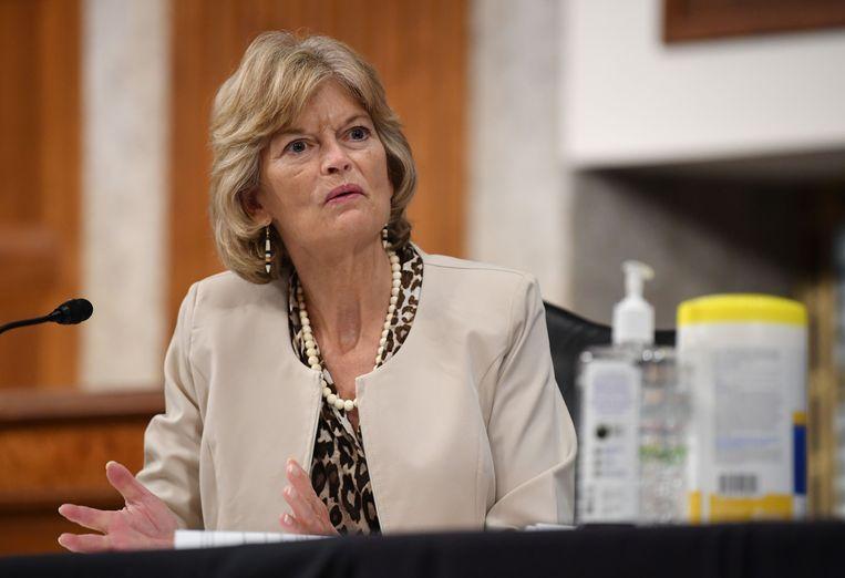 De Republikeinse senator Lisa Murkowski. Beeld AFP